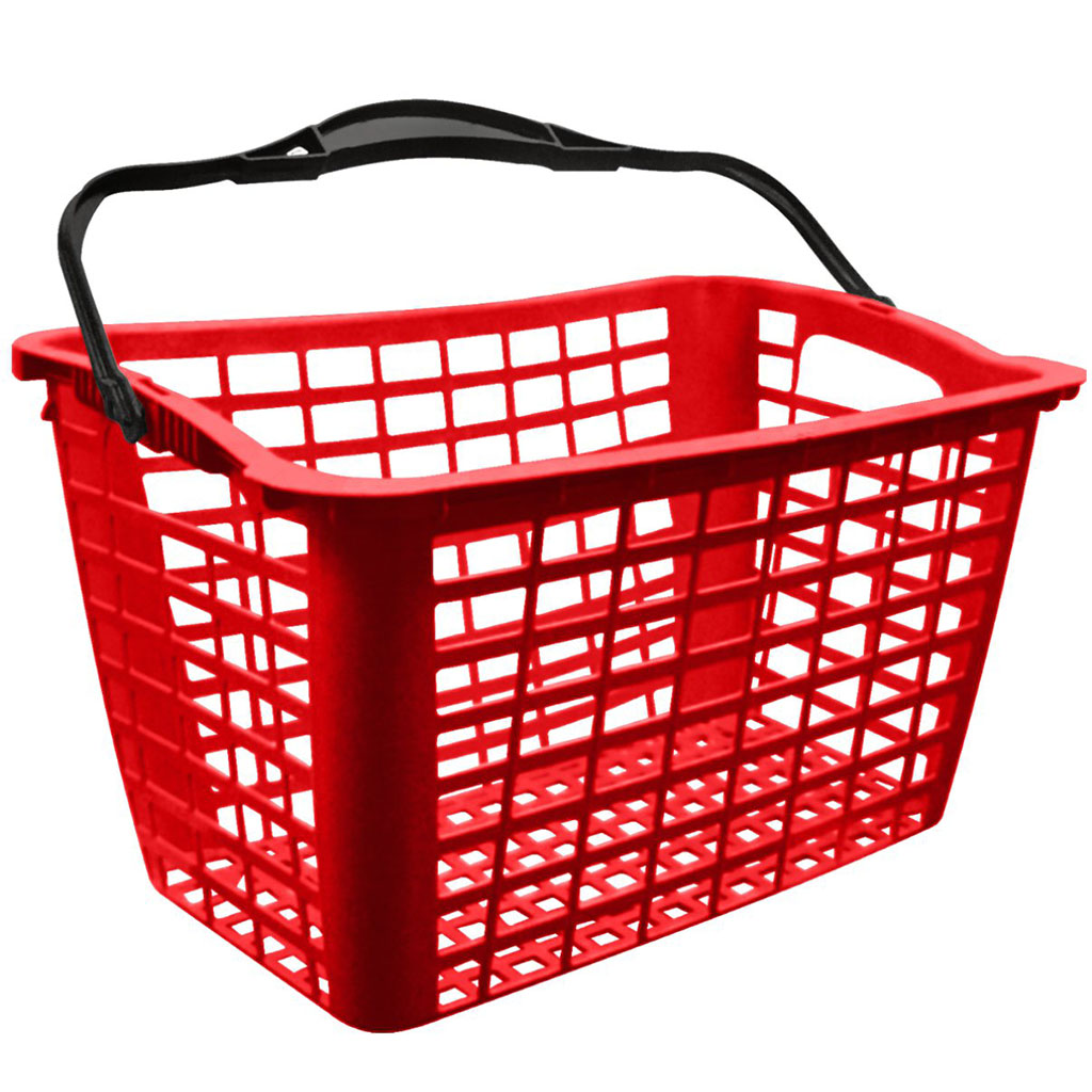 Cesto de Compras para Supermercado 12,5L Vermelho - Siris
