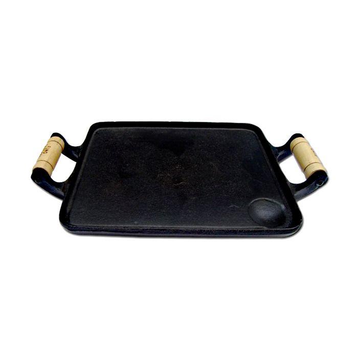 Chapa bifeteira ferro fundido c/2 alcas 0,38 x 0,25cm mod. fs-10 ref. 6323/3548