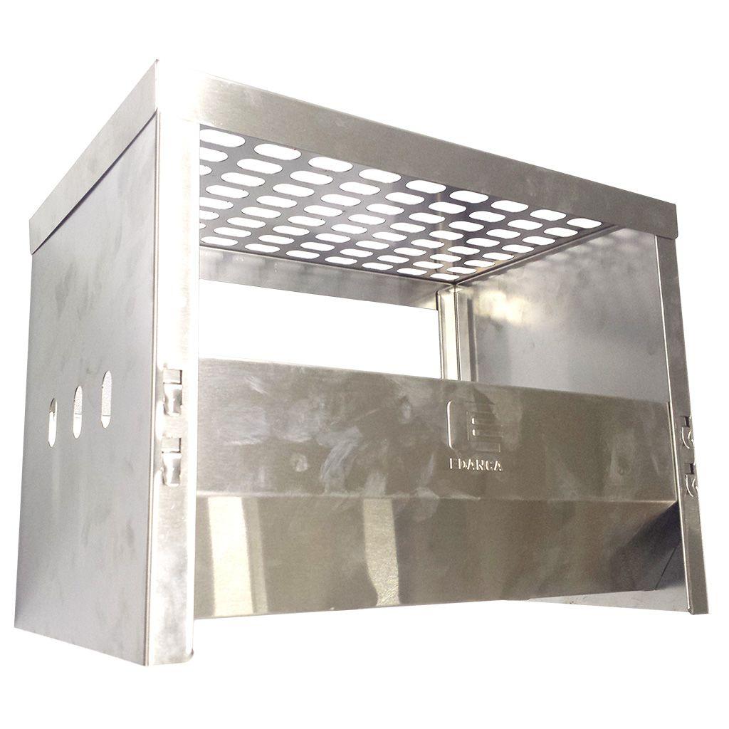 Churrasqueira a carvao inox portatil desmontavel edanca 28 x 24 x 40cm mod.cicd