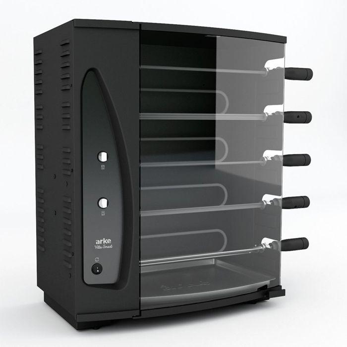 Churrasqueira eletrica c/ 5 espetos giratorios 127v arke mod. vitta smart