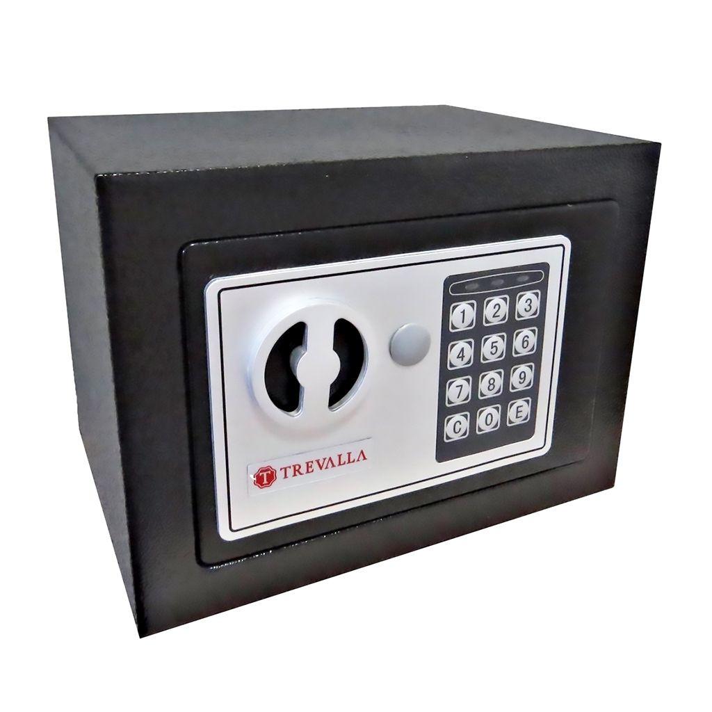 Cofre Eletrônico Com Senha e Chave Trevalla - 17x23x17cm