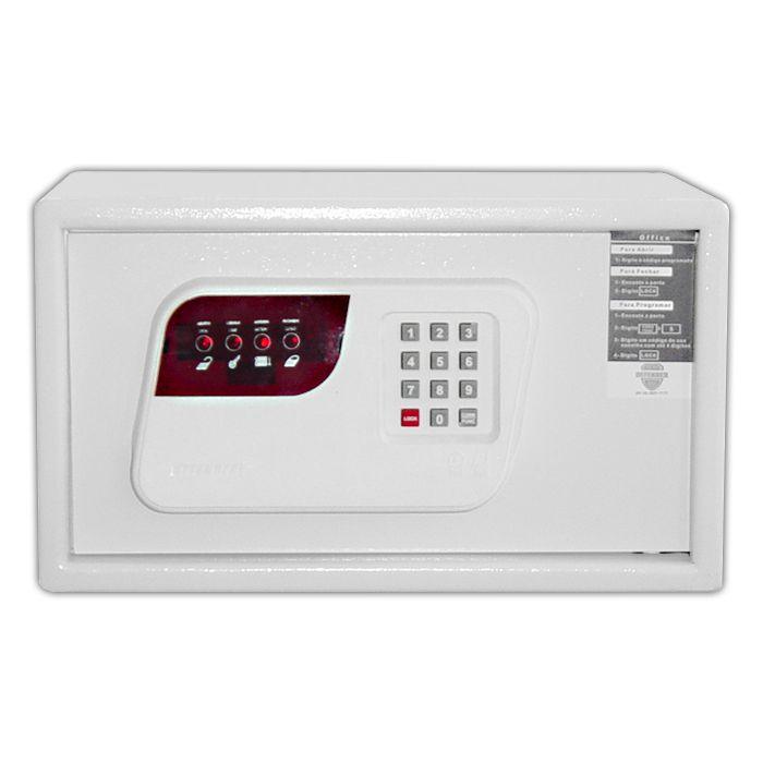 Cofre Eletrônico Com Senha Techner S24-ECD Branco - 24x38x21cm