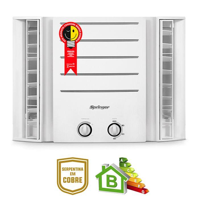 Condicionador de ar springer 10.000 btus duo 127v mod. qca/ qci108bb