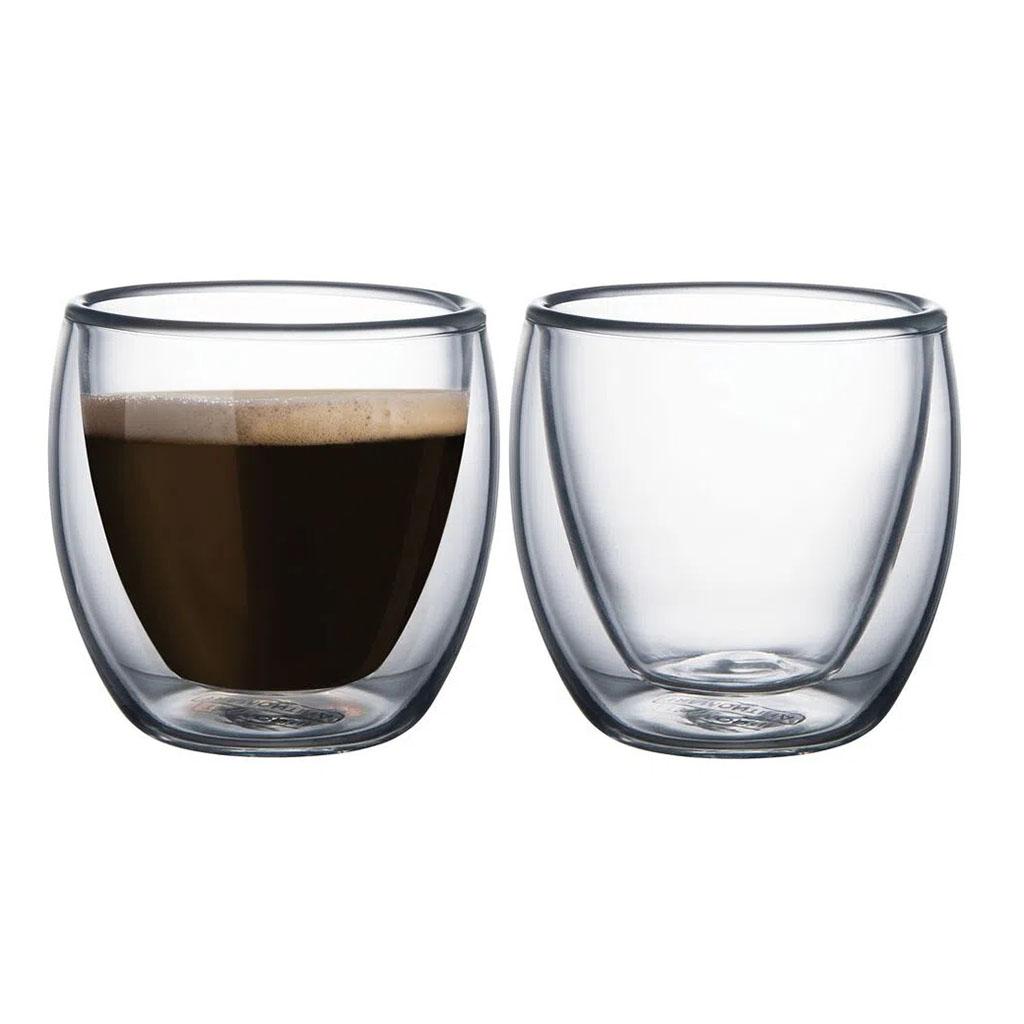 Conjunto de Xícaras Para Café em Vidro 2 Peças Tramontina