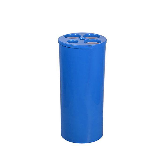 Dispensador de Copos Descartáveis Com 5 Tubos Azul