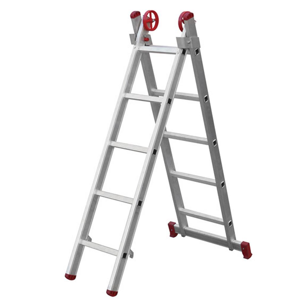 Escada de Alumínio Extendida 8 Degraus 3,88m Botafogo
