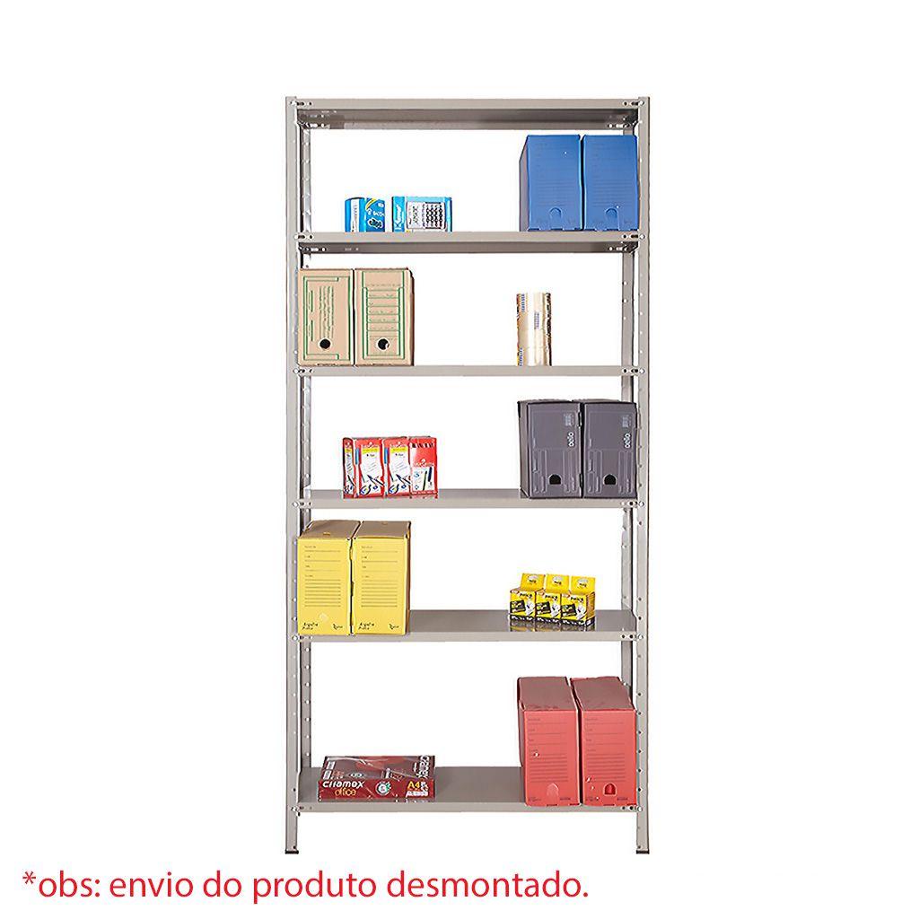 Estante multi-uso pintada 06 prat. 1,98x0,92x0,30mt so aco reforcada ea-06/30cr