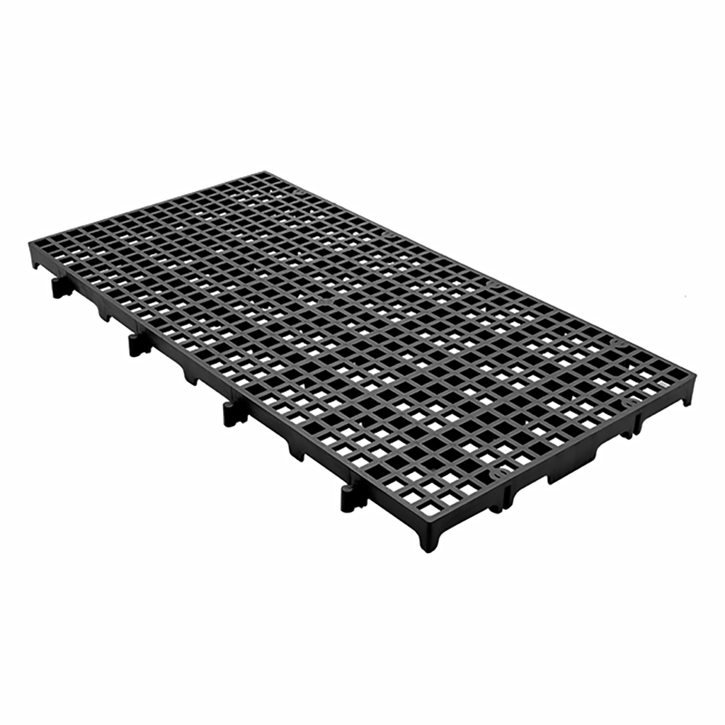 Estrado Modular Della Plast Preto 2,5x25x50cm