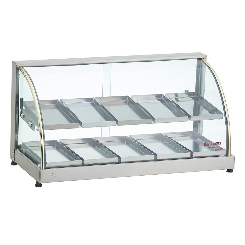 Estufa vidro curvo 10 bandejas dupla 127v edanca ouro mod. eod-10