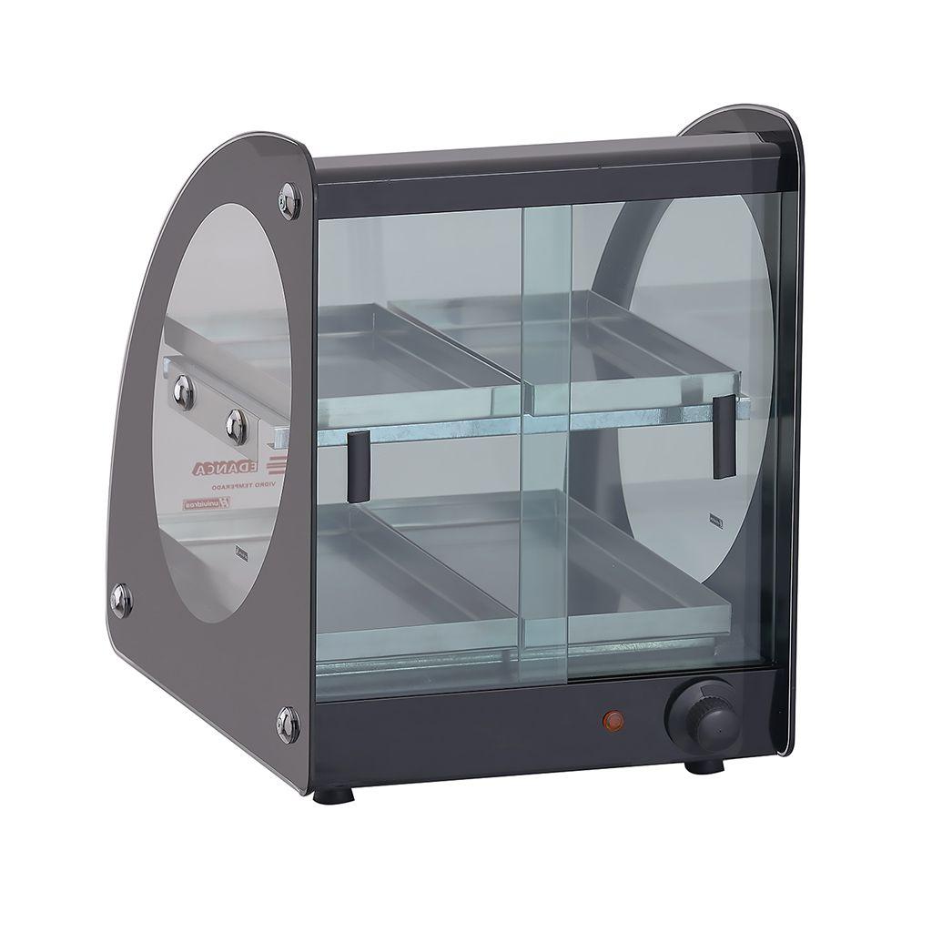 Estufa vidro curvo   4 bandejas 127v edanca preto dupla mod. eamd-04