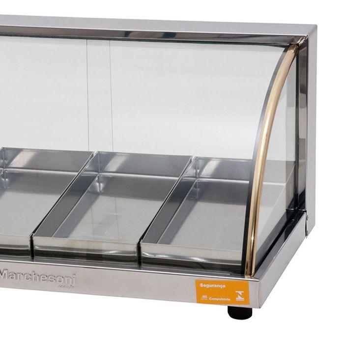 Estufa vidro curvo   4 bandejas marchesoni 127v ref. e234-1/ ef.2.041