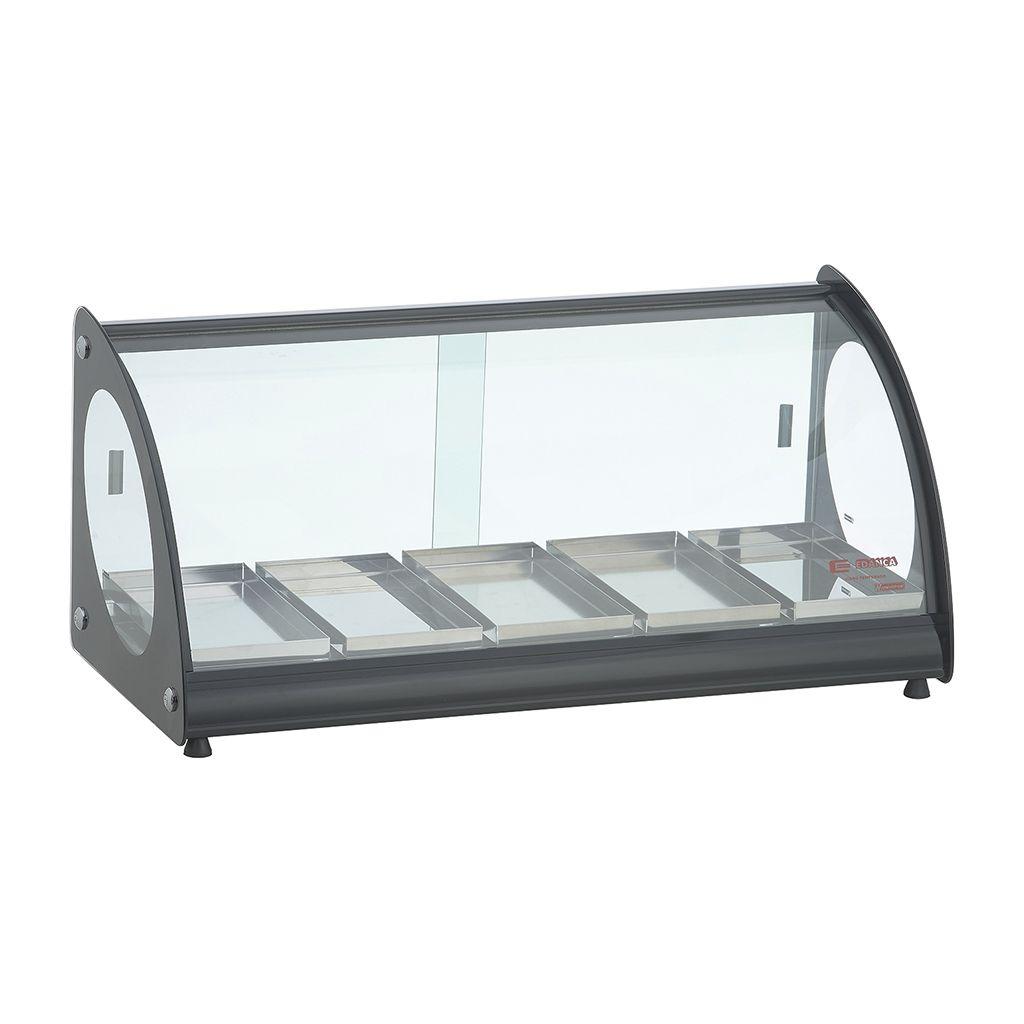 Estufa vidro curvo   5 bandejas 127v edanca preto mod. eam-05