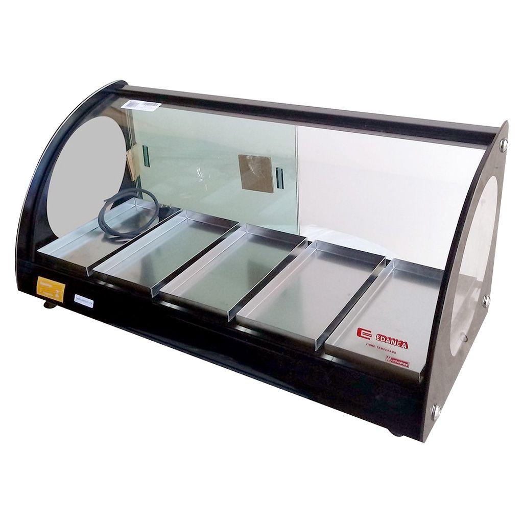 Estufa vidro curvo   5 bandejas  edanca preto 127v mod. eam-05