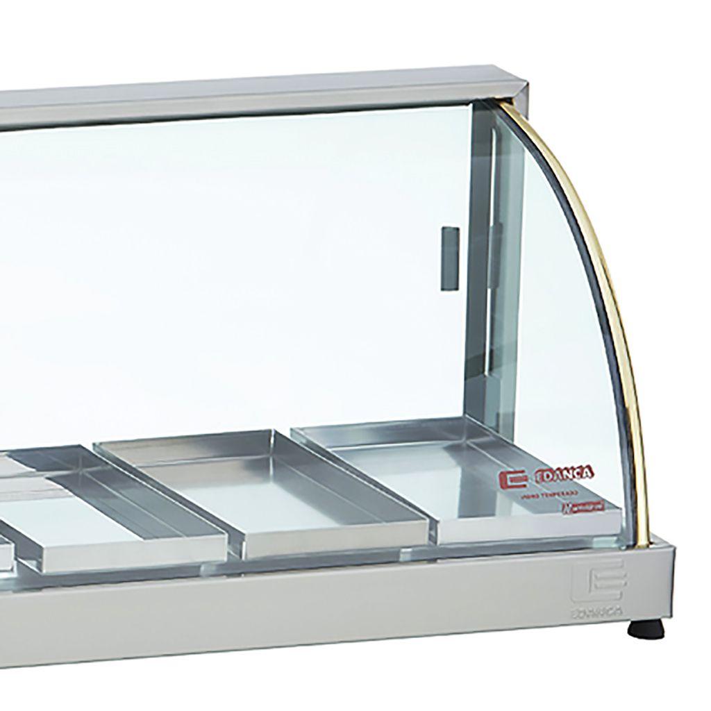 Estufa vidro curvo   6 bandejas 127v edanca serie ouro mod. eo-06