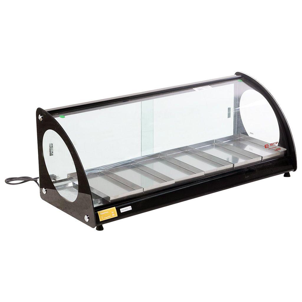 Estufa vidro curvo   6 bandejas  edanca preto 127v mod. eam-06