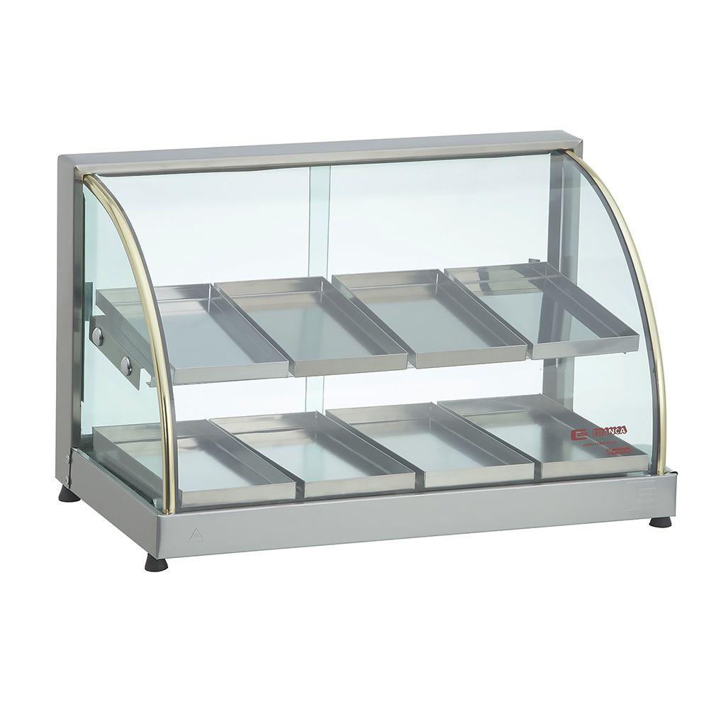 Estufa vidro curvo   8 bandejas dupla 127v edanca ouro mod. eod-08