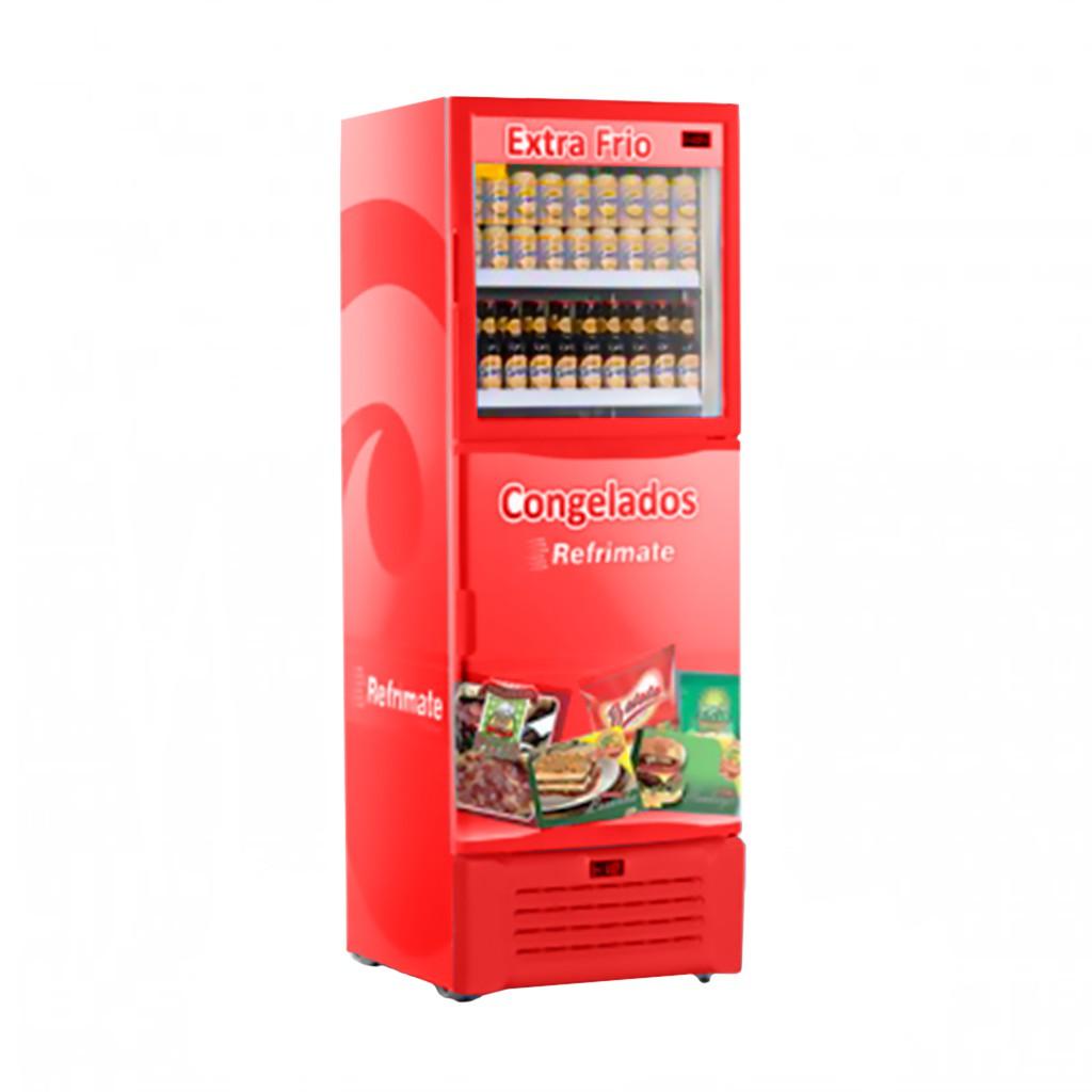Expositor de Bebidas e Freezer Refrimate Visa Cooler 600L Vermelho - 127v