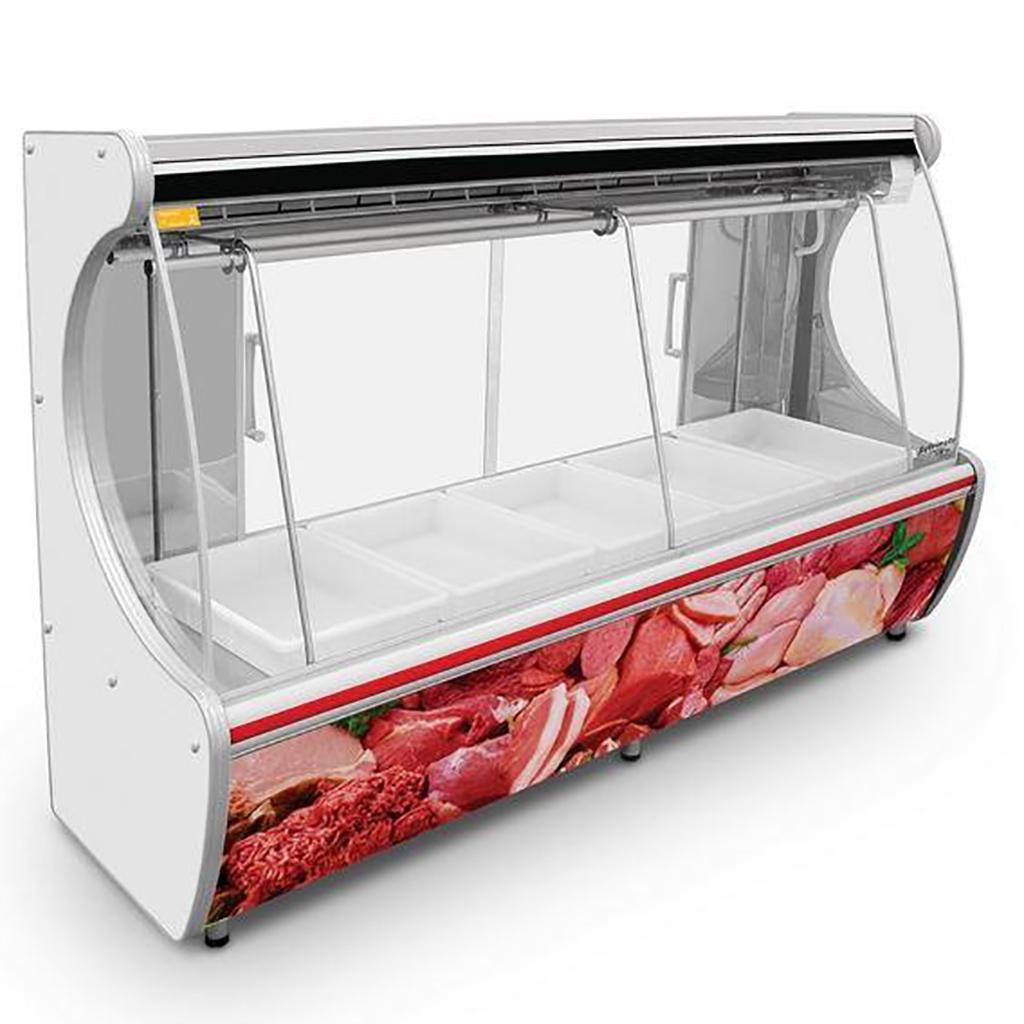 Expositor De Carne Refrimate 3,00m Vermelho EANSTD3000 - 220V