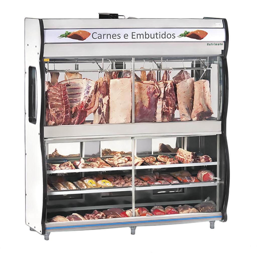 Expositor De Carne Refrimate 2,00m Cinza EAST 2000 - 127v