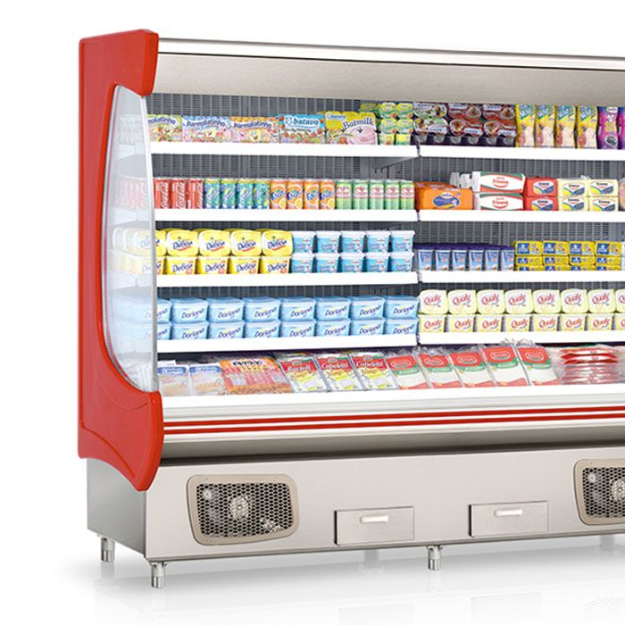 Expositor vertical aberto refrigerado gelopar 220v vermelho mod. gsto-240vm