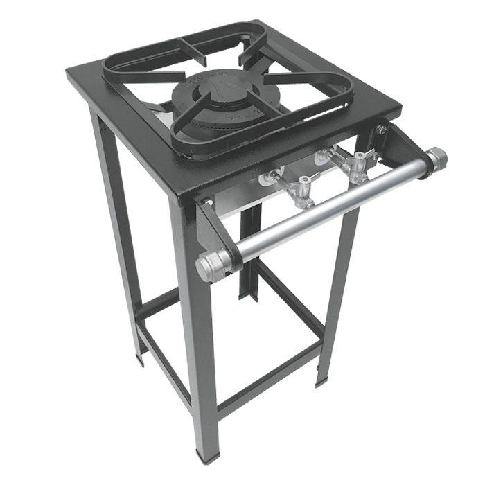 Fogão Industrial 1 Boca Dupla Com Pé M1 Metalmaq