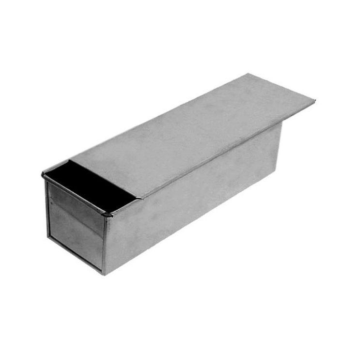 Forma p/ pao de forma estampada aluminio  30 x 10 x 10 cm imeca ref. 3653
