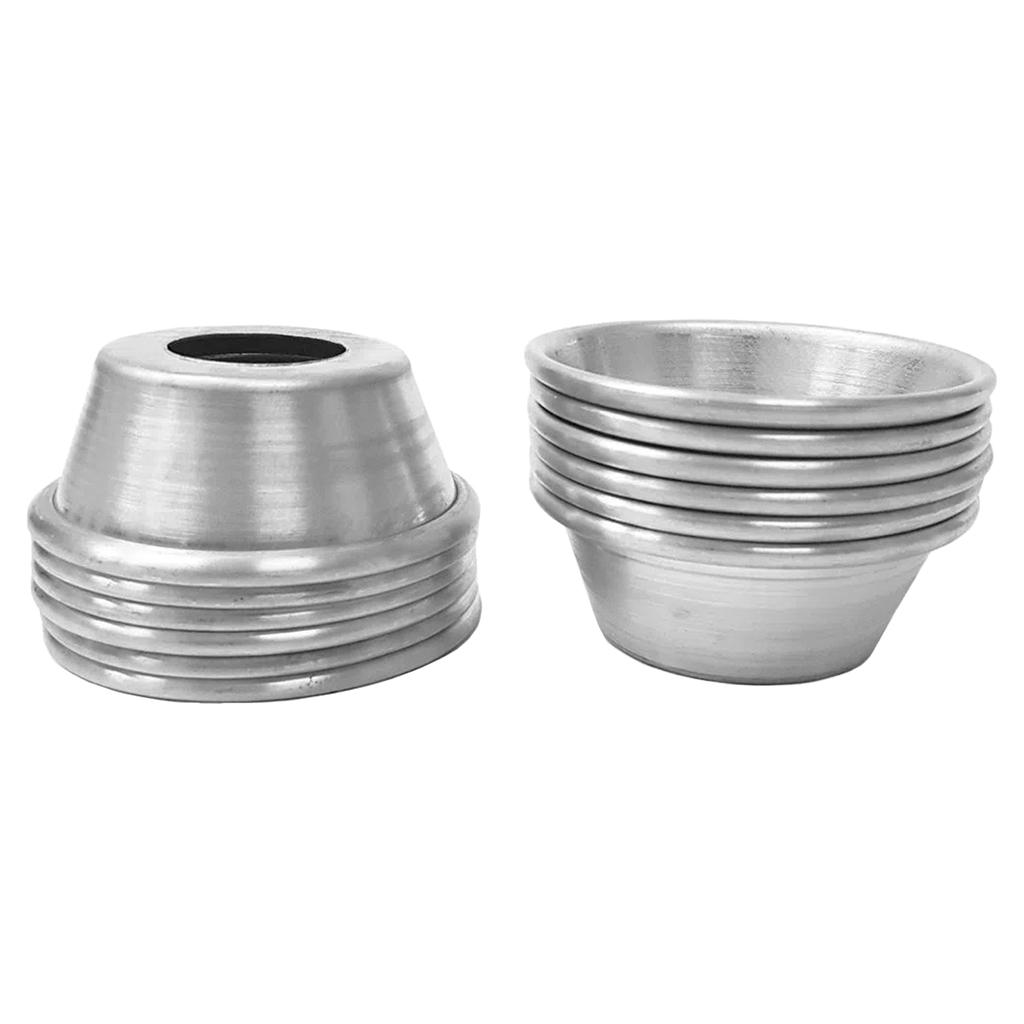 Forminha 7,5cm Alumínio Sem Fundo Cimapi - 12 Unidades