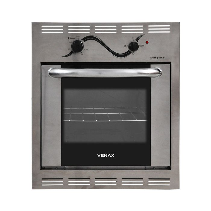 Forno a gas 50lt c/ grill 127v venax de embutir inox mod. semplice ref. 17658