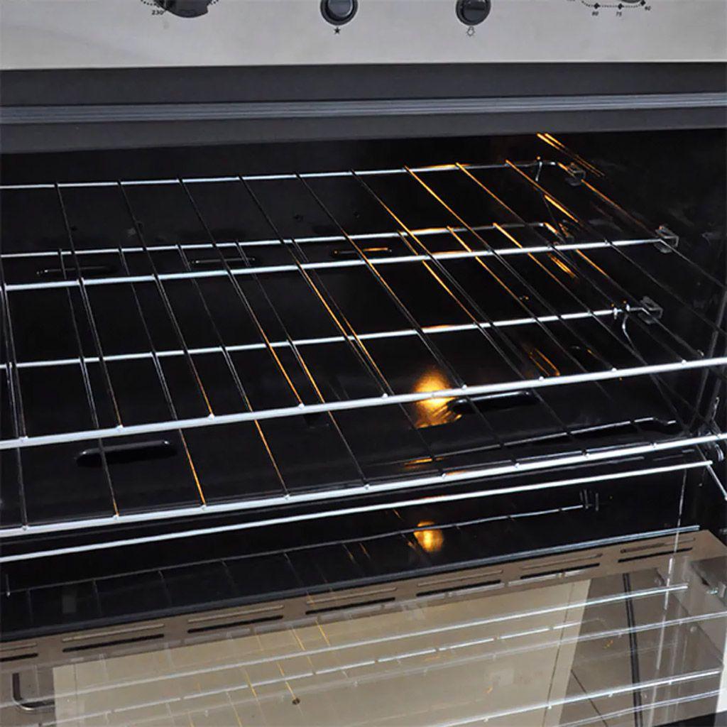 Forno a gas 90lt c/ grill 127v venax de embutir inox mod. cristallo