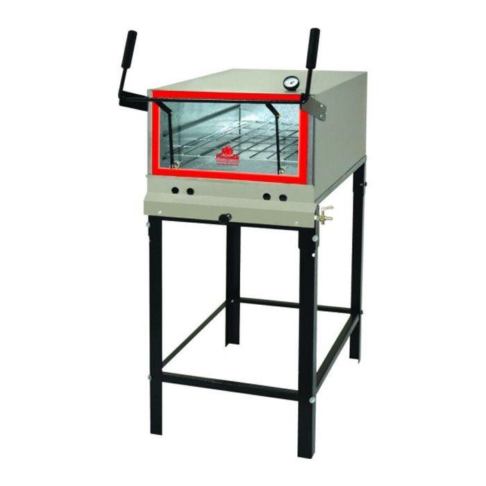 Forno a gas inox refratario p/ pizza progas mod.prp-800 ref. p30637/p37957