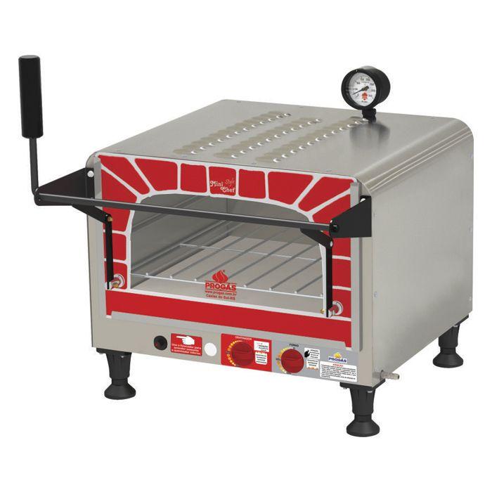 Forno a gas refrat.c/gratinador progas mini chef style mod.prp-400 ref. 34293