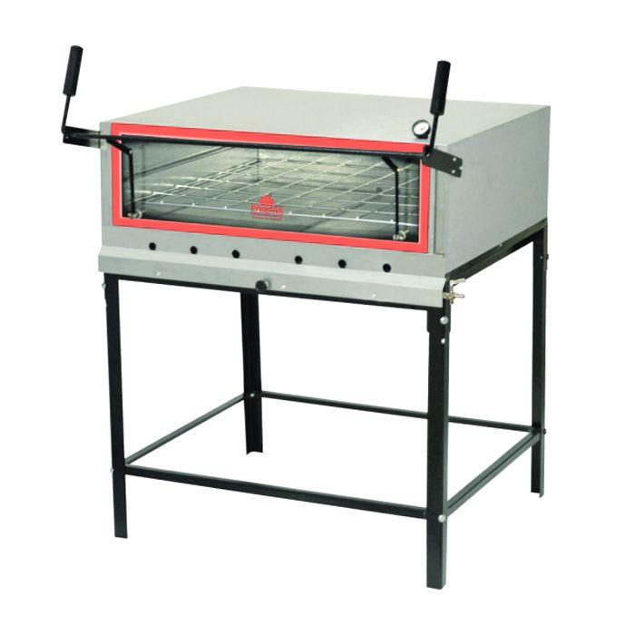 Forno a gas inox refratario progas p/ pizza mod. prp-900/kg ref. 22740/ p37905