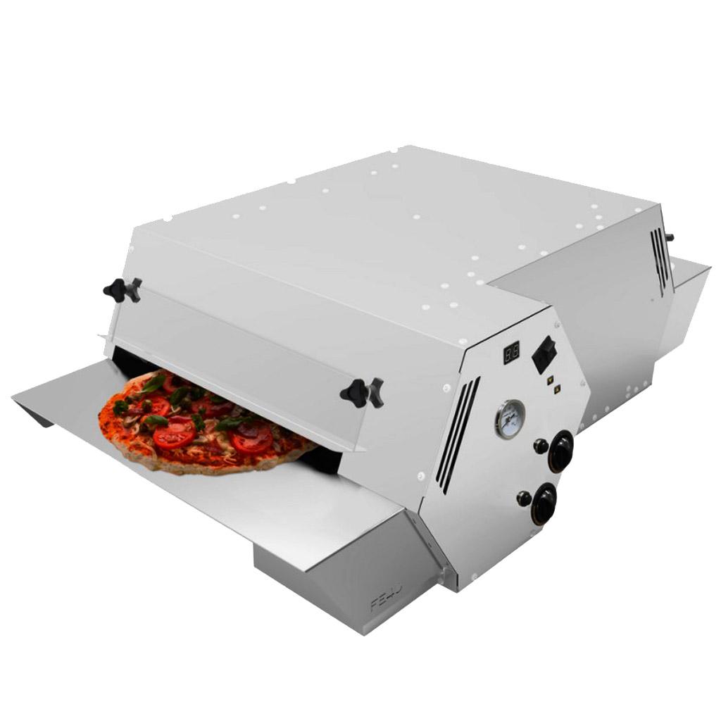 Forno Esteira Industrial a Gás para Pizzas FE4011 Inox Saro - 127V