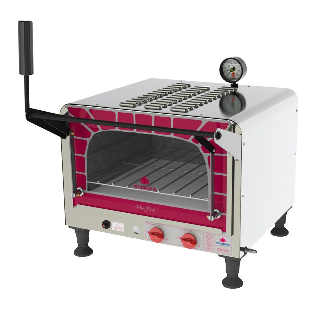 Forno Refratário Industrial à Gás De Mesa Mini Chef Style Progás Prp-400