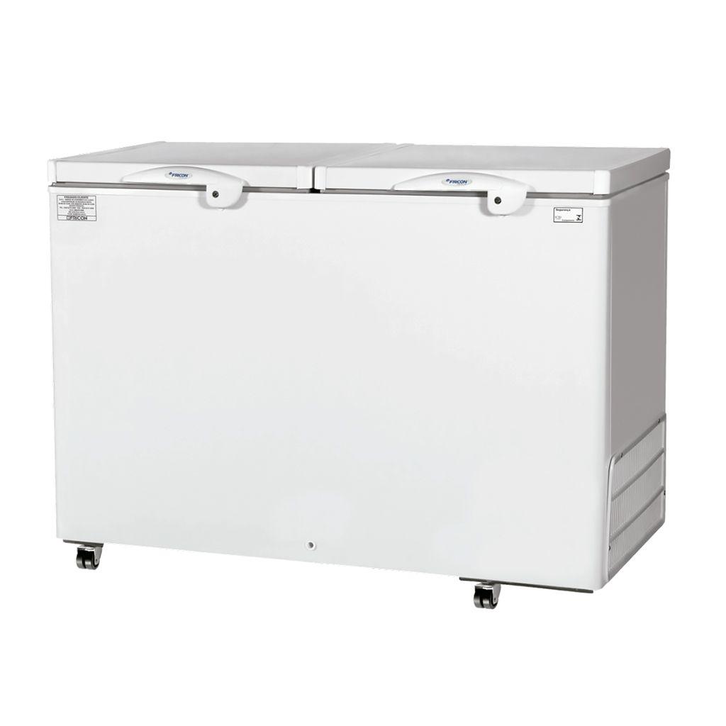 Freezer Conservador Horizontal Fricon 2 Portas 411L Branco HCED 411 C - 127v