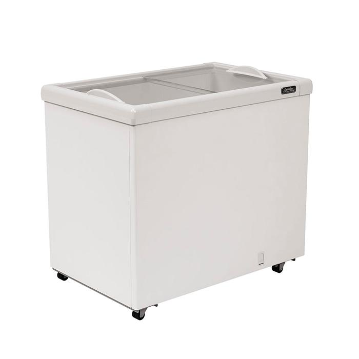 Freezer horizontal comerc. 252lts 127v esmaltec  2t vidro reto mod. af300