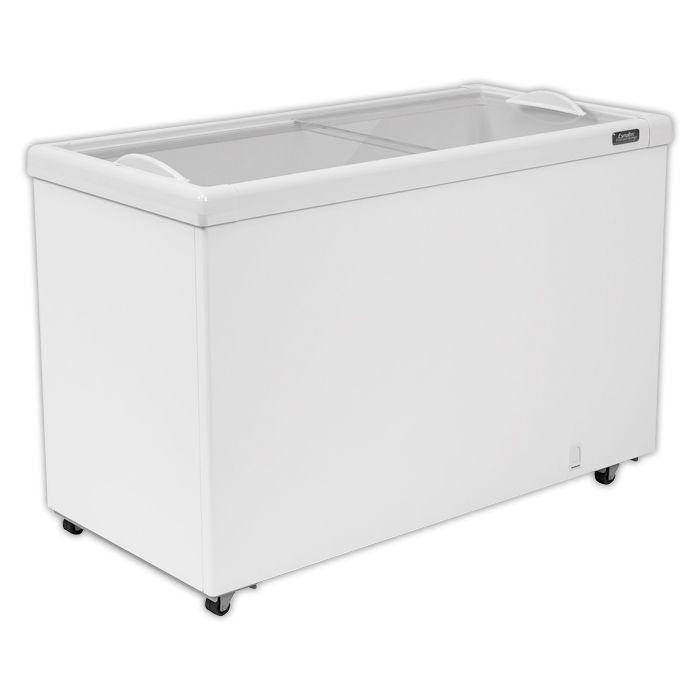 Freezer horizontal comerc. 367lt 127v esmaltec  2t vidro reto mod. af400