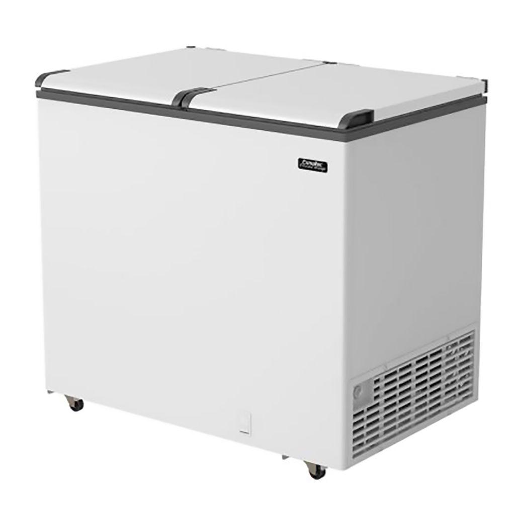 Freezer Horizontal Esmaltec 2 Tampas 303L Branco Chest Efh350s - 127v