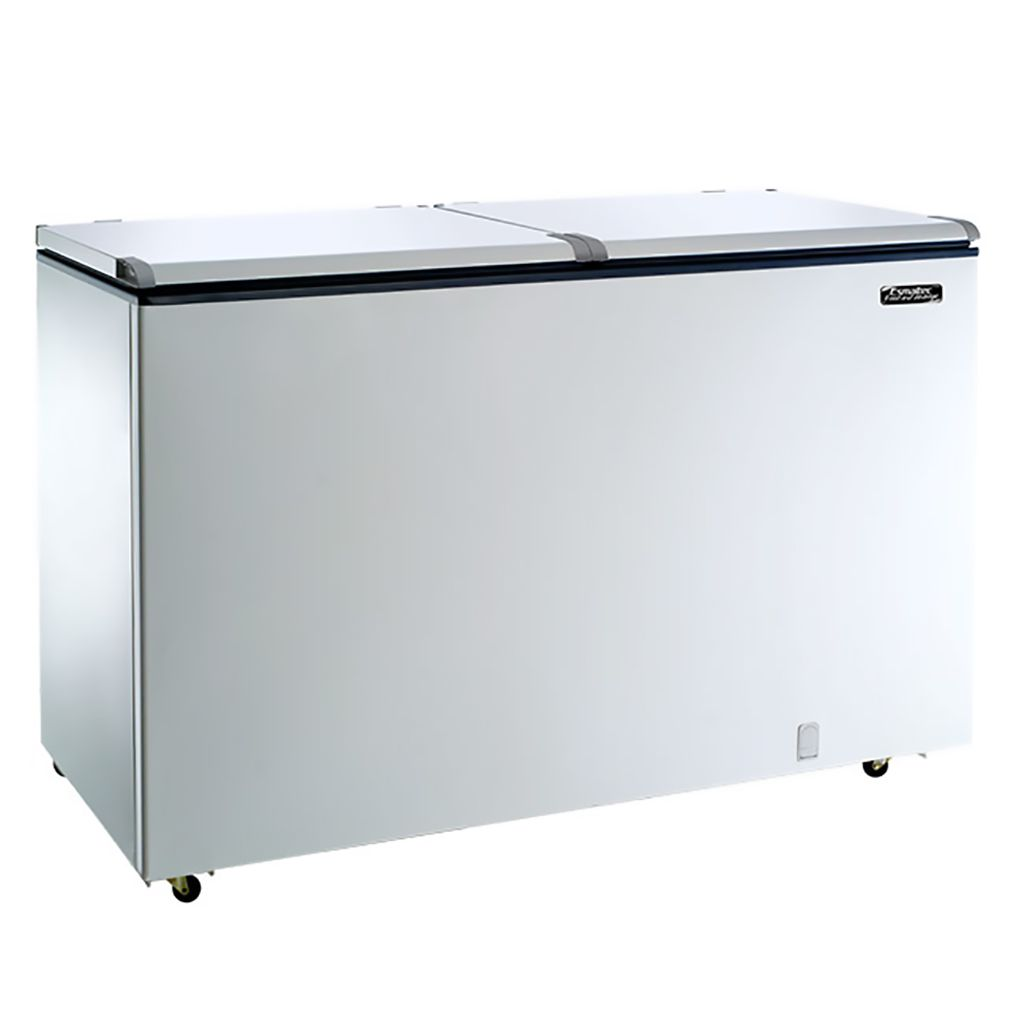 Freezer Horizontal Esmaltec 2 Tampas 437L Branco Chest Efh500s - 127v