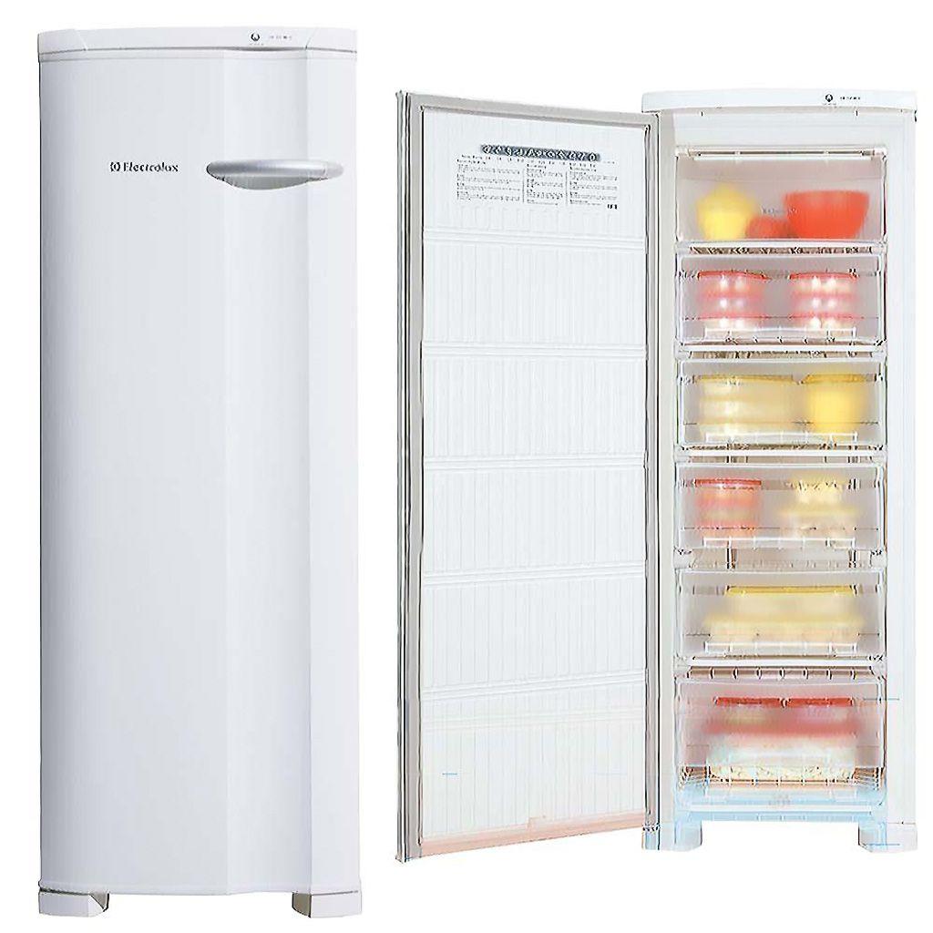 Freezer vertical de gaveta 173lts 127v electrolux domestico mod fe22