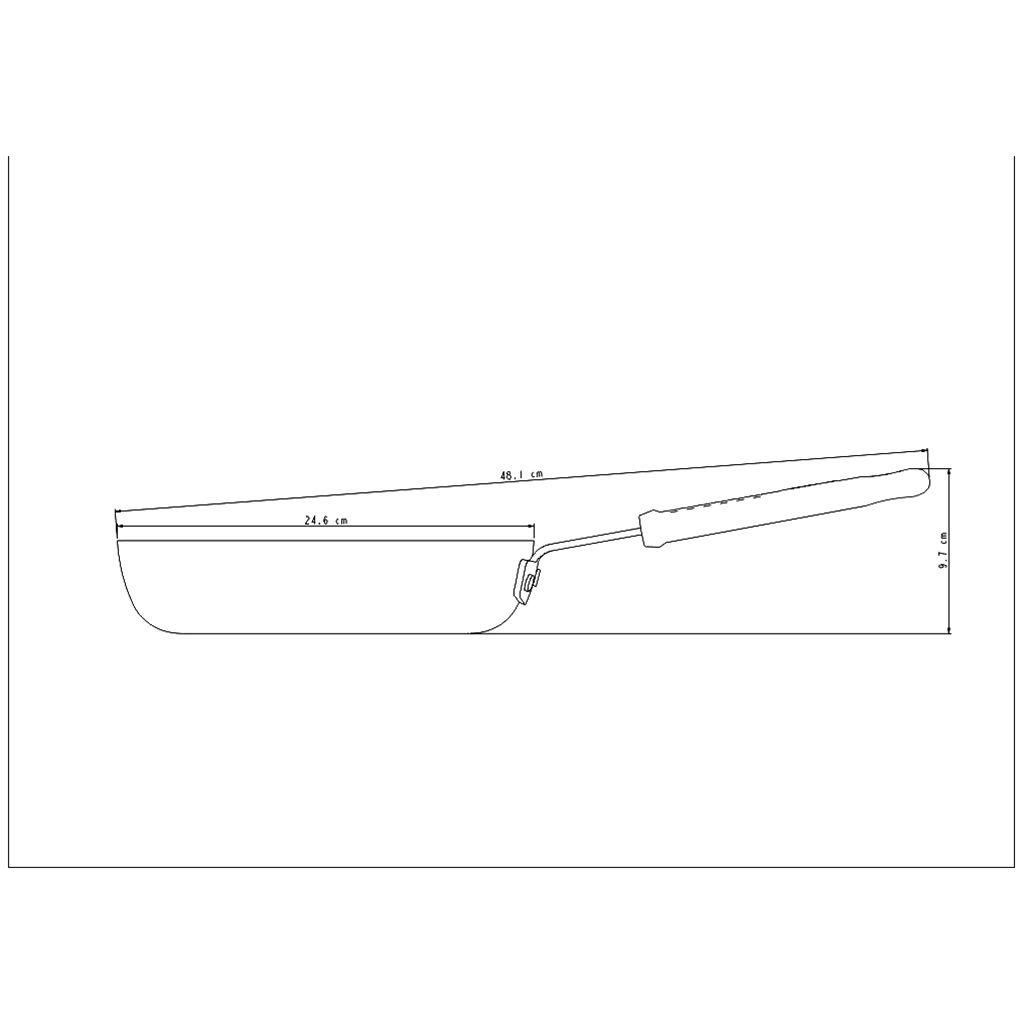 Frigideira aluminio tramontina 24 cm head chef ref. 20885/024