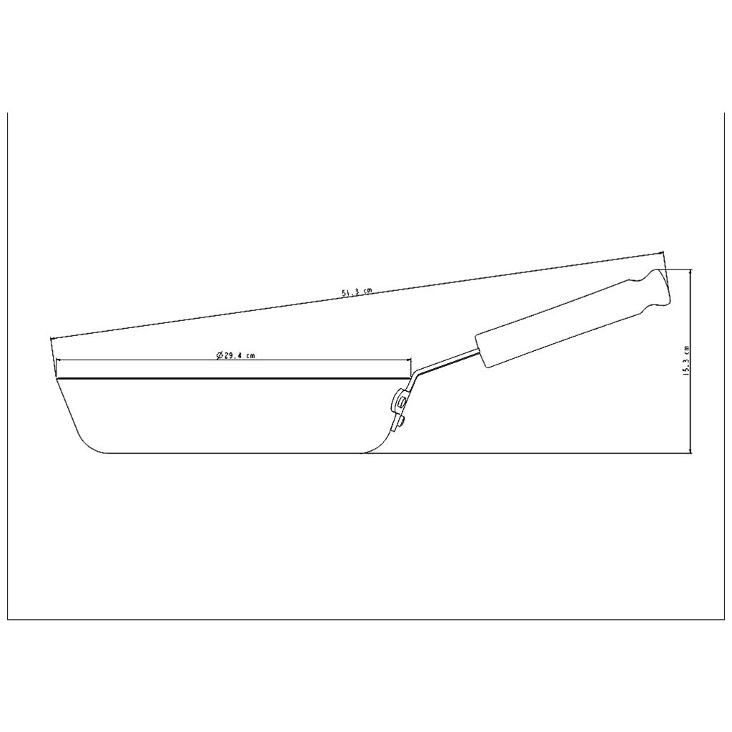 Frigideira aluminio tramontina 28 cm profission ref. 20886/028