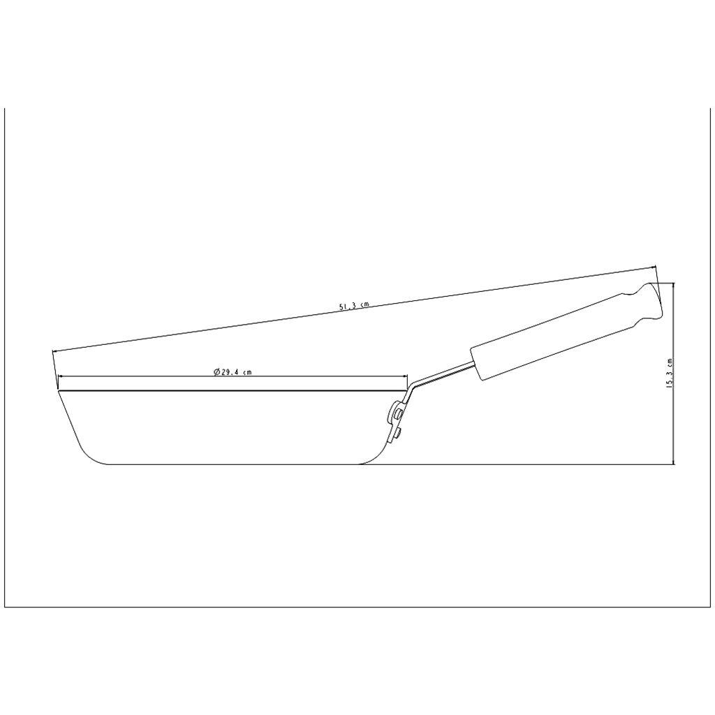 Frigideira aluminio tramontina 28 cm profissional ref. 20895/028