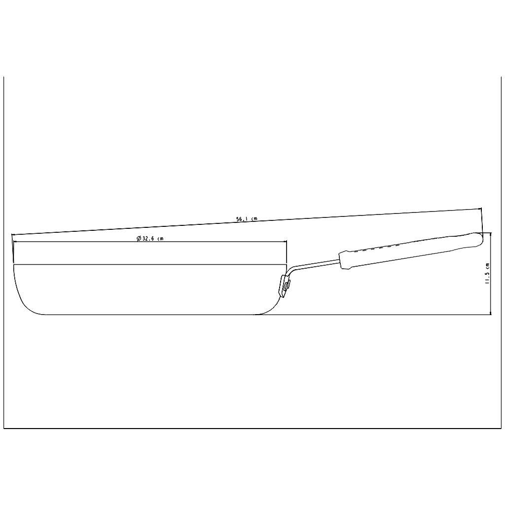 Frigideira aluminio tramontina 32 cm head chef ref. 20885/032