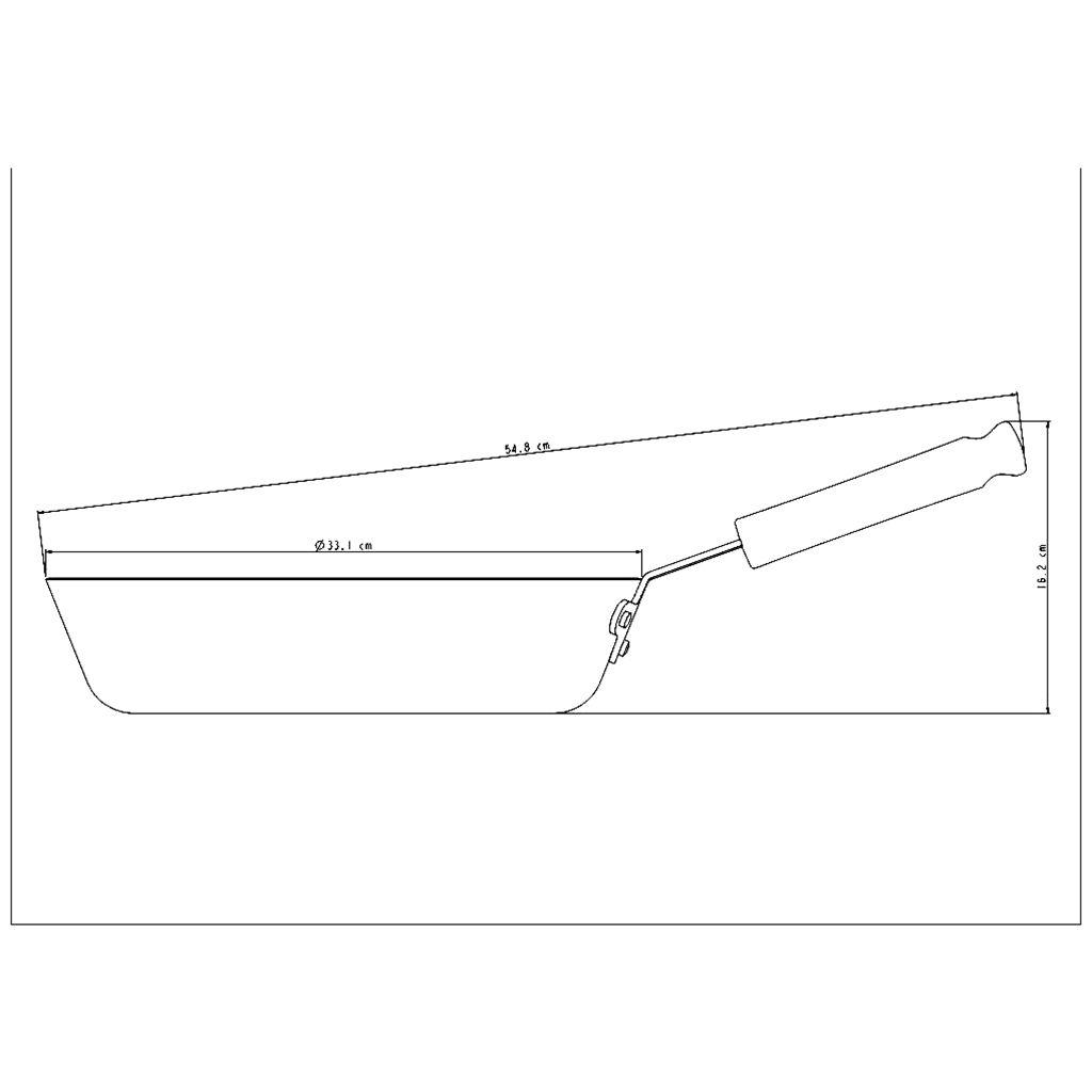 Frigideira aluminio tramontina 32 cm profiss. cabo baquelite ref. 20886/032
