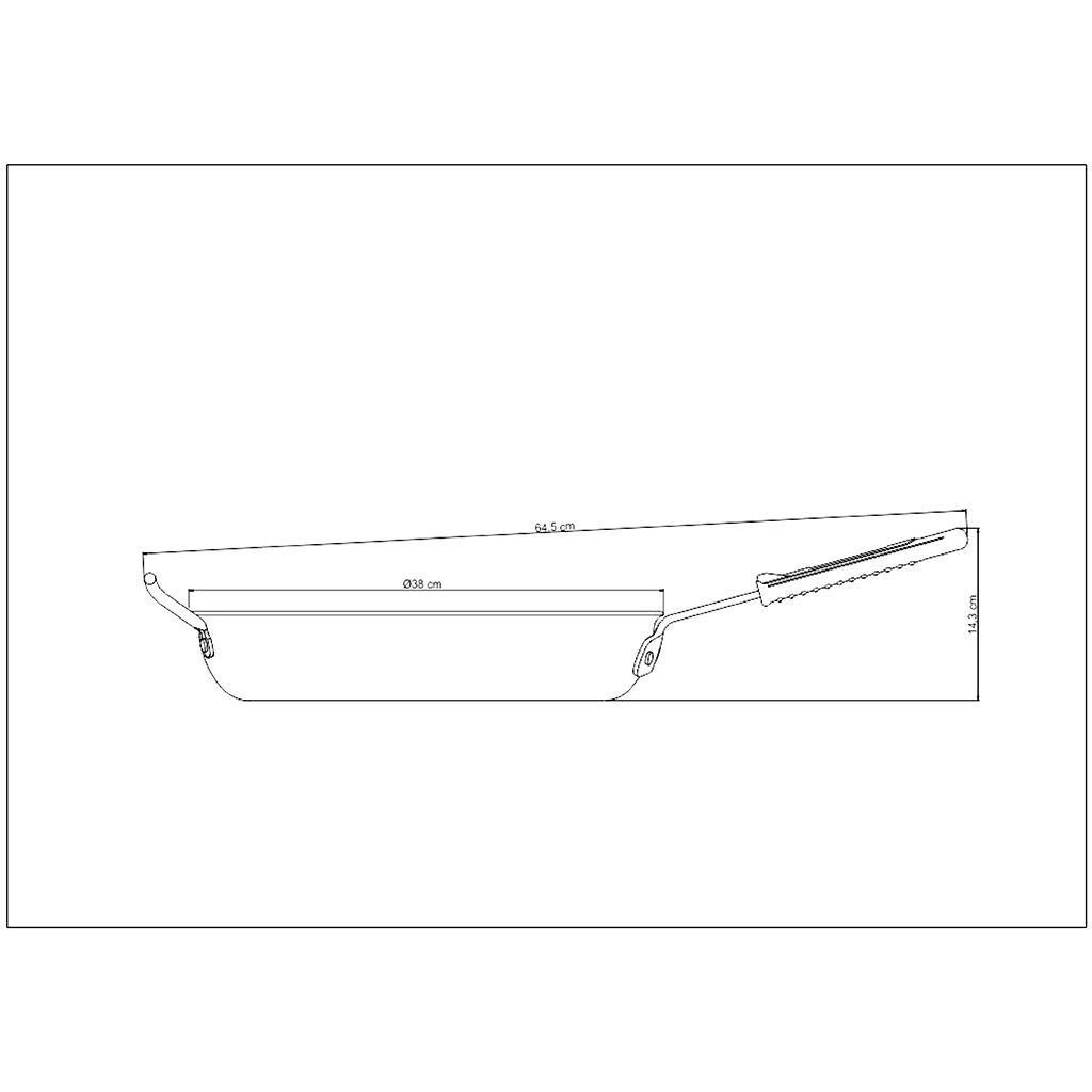 Frigideira aluminio tramontina 36 cm profissional ref. 20891/036
