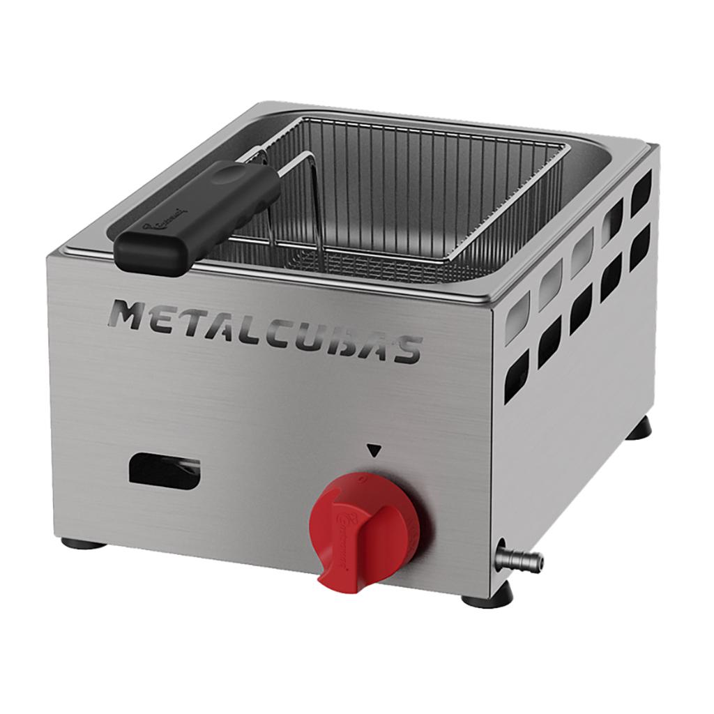 Fritadeira à Gás 3L Inox Com 1 Cesto FRCG-3 BP Metalcubas