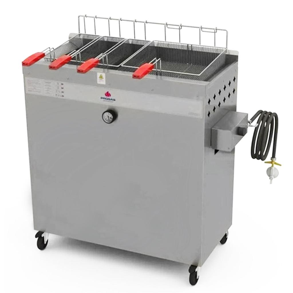 Fritadeira à Gás Água e Óleo 30L 4 Cestos PR-3000 BPG STYLE Progás