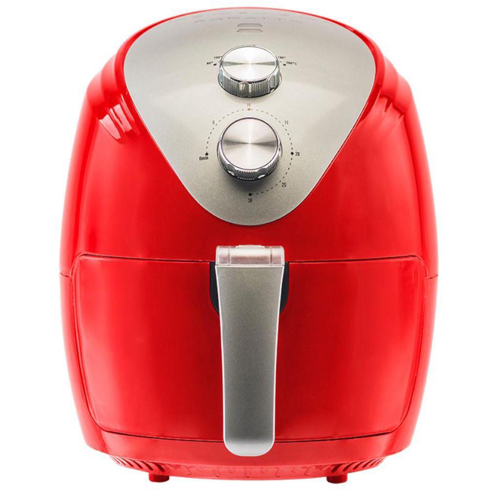 Fritadeira Elétrica Sem Óleo Air Fryer Agratto Silver 2,5L Vermelho - 127v