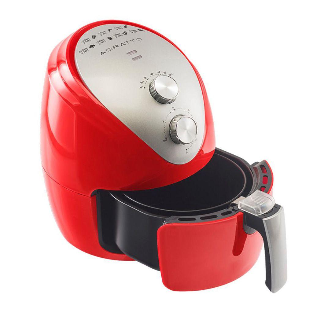 Fritadeira sem oleo eletrica 127v agratto vermelho cap. 2,5lt ref. silver